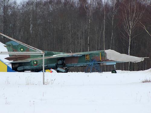 61 MiG-23 ex Bulgarian AF Tukums, Latvia 10-03-18