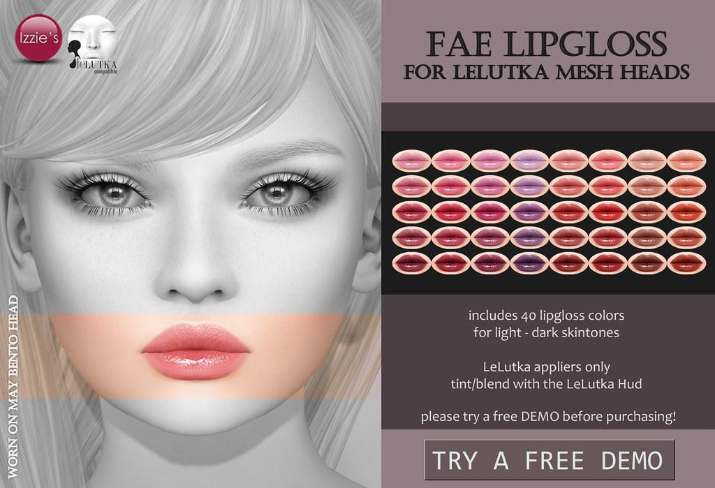 Fae Lipgloss (LeLutka) for FLF - TeleportHub.com Live!