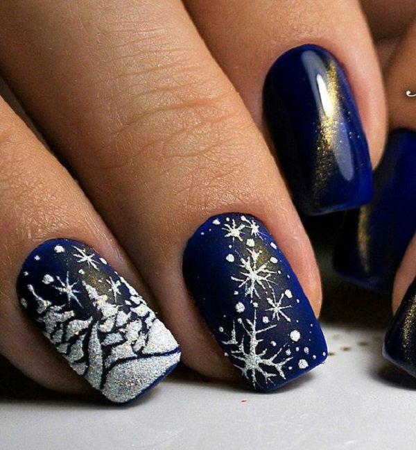 Spring Snow Nails Art Design