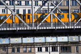Detail Hochbahnbrücke am U Gleisdreieck