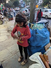 This girl was collecting empty bottles.And earned some RS 30 by selling to Kabadi