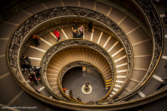 Vatican Museum, Rome, Italy – Double helix designed by Giuseppe Momo in 1932