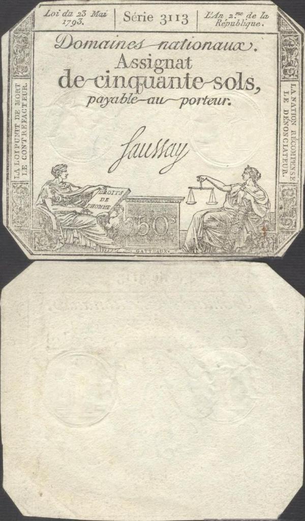 50 Sols Francúzsko 1793, A070b