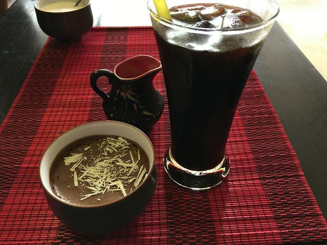 チョコムースとアイスコーヒー