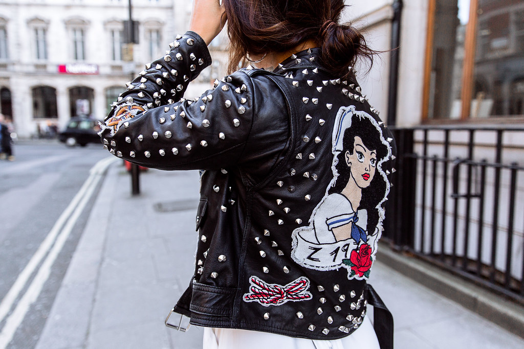 The Little Magpie Studded Leather Jacket
