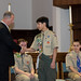 State Representative Craig Fishbein presented an official state citation to Eagle Scout Joseph Bernick during his Eagle Court of Honor at St. Paul's Church in Wallingford on Sunday, March 18.  Joseph Bernick follows in the footsteps of both his father, John, and older brother, Mark, who also attained the highest rank of Eagle Scout.  The celebration included candle lighting traditions, the Boy Scout Oath, Eagle Oath, presentations from local, state and Boy Scout dignitaries and family remarks.  Joseph's Eagle Scout service project was the design, planning and installation of a new fence behind the Franklin Johnson Mansion on South Main Street.