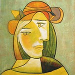Picasso painting of a woman's face