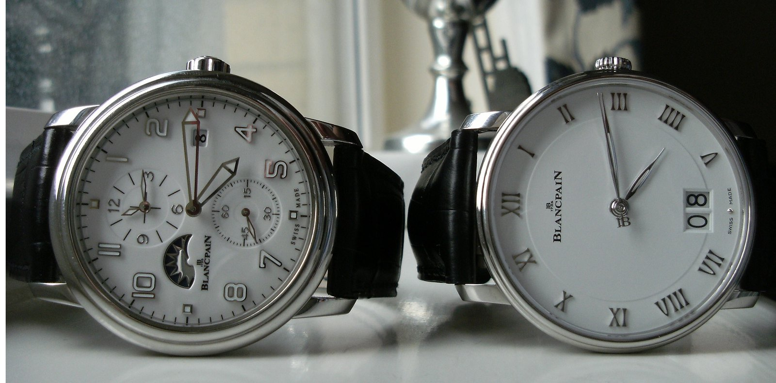 Blancpain Leman and Villeret watches