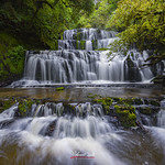 The majestic multi tiered Purakaunui Falls