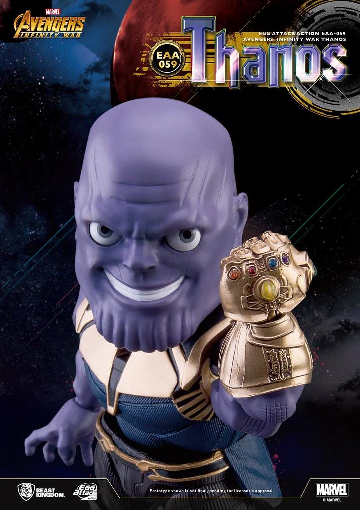 大魔王笑起來也超可愛?! 野獸國 Egg Attack Action 系列《復仇者聯盟3:無限之戰》薩諾斯 Thanos EAA-059