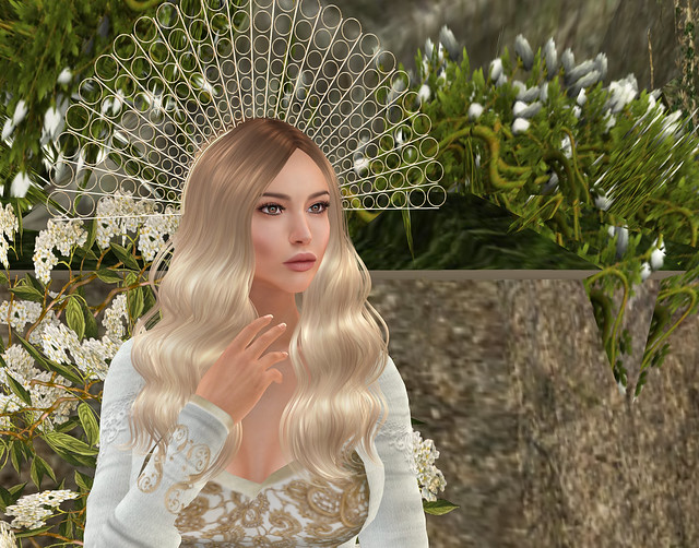 Zigfeld Hairpiece, creme, Sascha's Designs + Magika hair