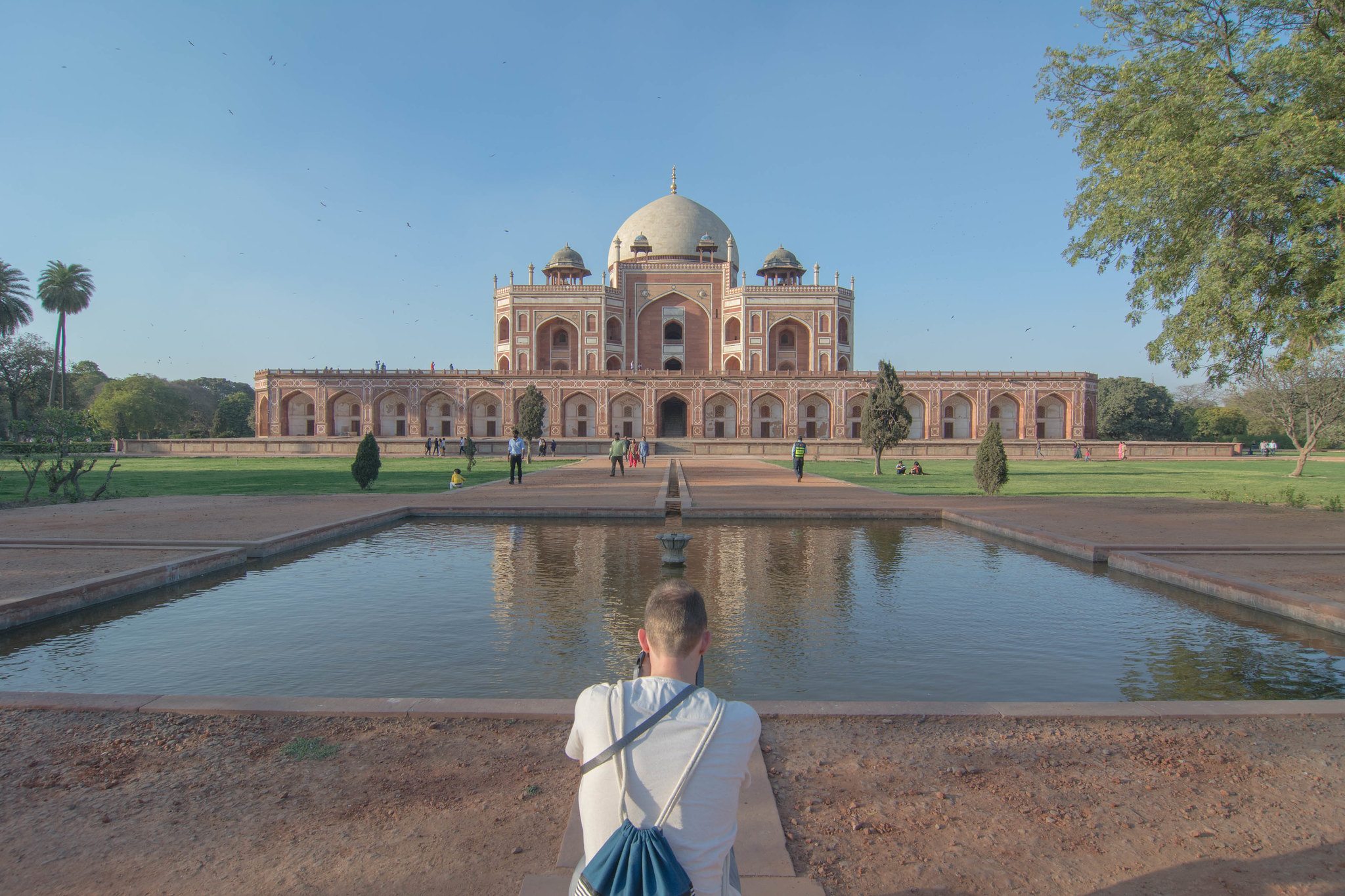 Humayun's Tomb in evening