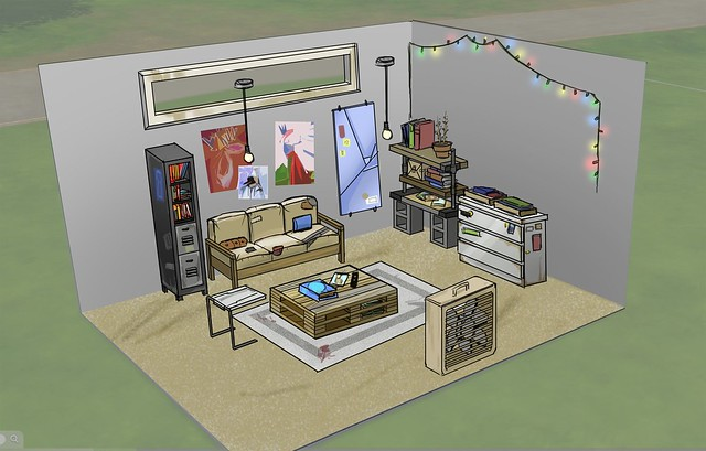 Conceito de Arte do The Sims 4 Casa Inicial