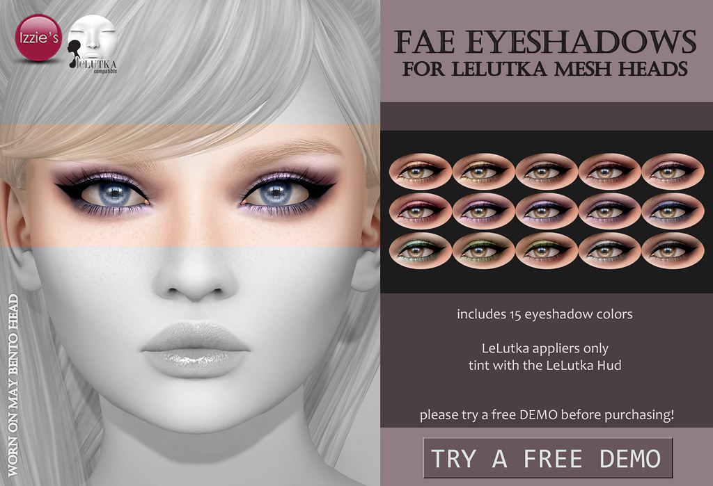 Fae Eyeshadows (LeLutka) for FLF - TeleportHub.com Live!