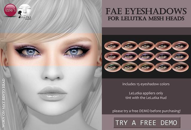 Fae Eyeshadows (LeLutka) for FLF
