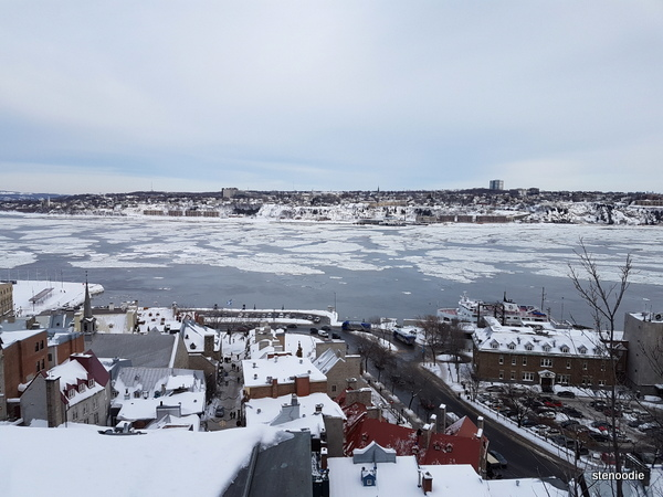 Partially frozen St. Lawrence River