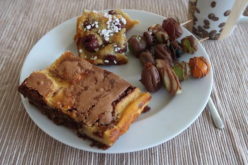 Clafoutis, Brownie und Schokofrüchte