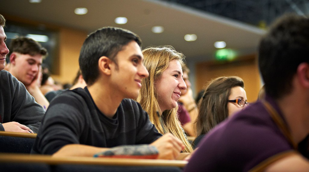 British Studies students sitting in a lecture hall