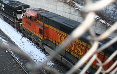 BNSF Railway, BNSF 4000, GE C44-9W (Dash 9-44CW), in Staten Island, New York, USA. March, 2018