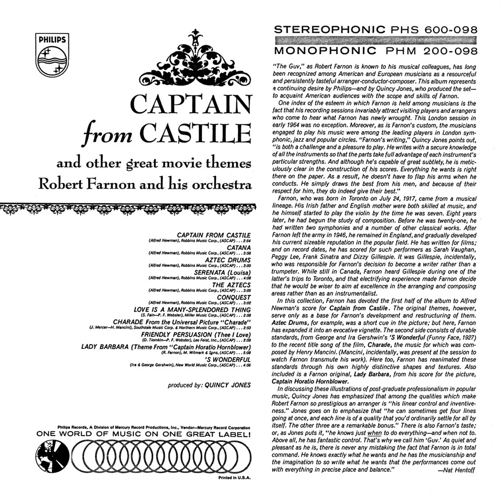 Robert Farnon - Captain from Castile and Other Great Movie Themes b