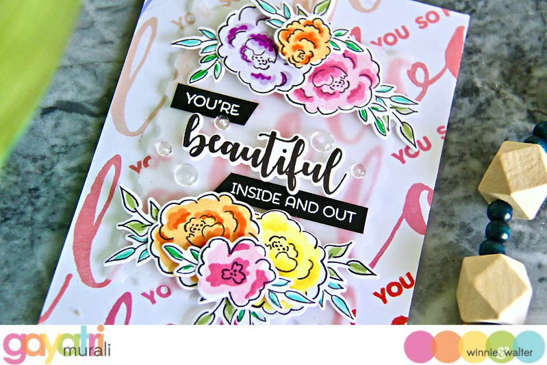 gayatri_You're Beautiful Inside and Out card closeup