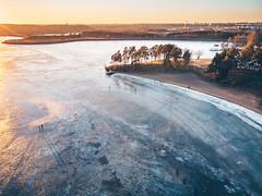 Walking on ice | Kaunas aerial