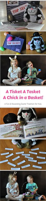 Chick in a Basket - A Fun and Rewarding Easter Tradition for Kids! #Easter #Tradition #EasterTraditions #chickinabasket #theeasterbunnyontheshelf {sponsored review}