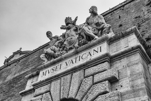 Rome 72 Vatican 12 Museum entrance stonework
