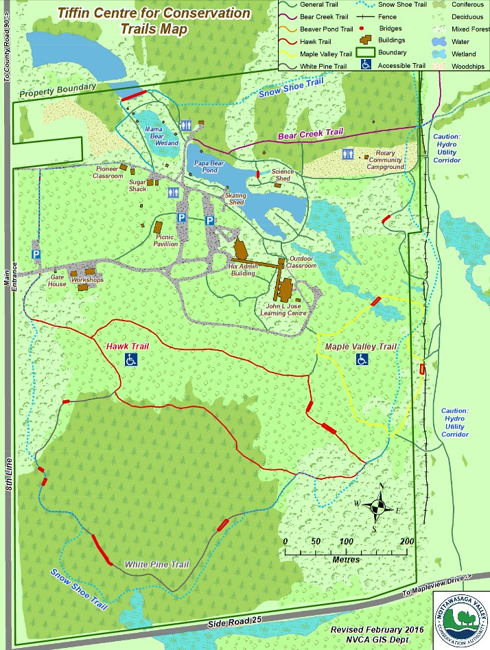 Tiffin Centre Trail Map