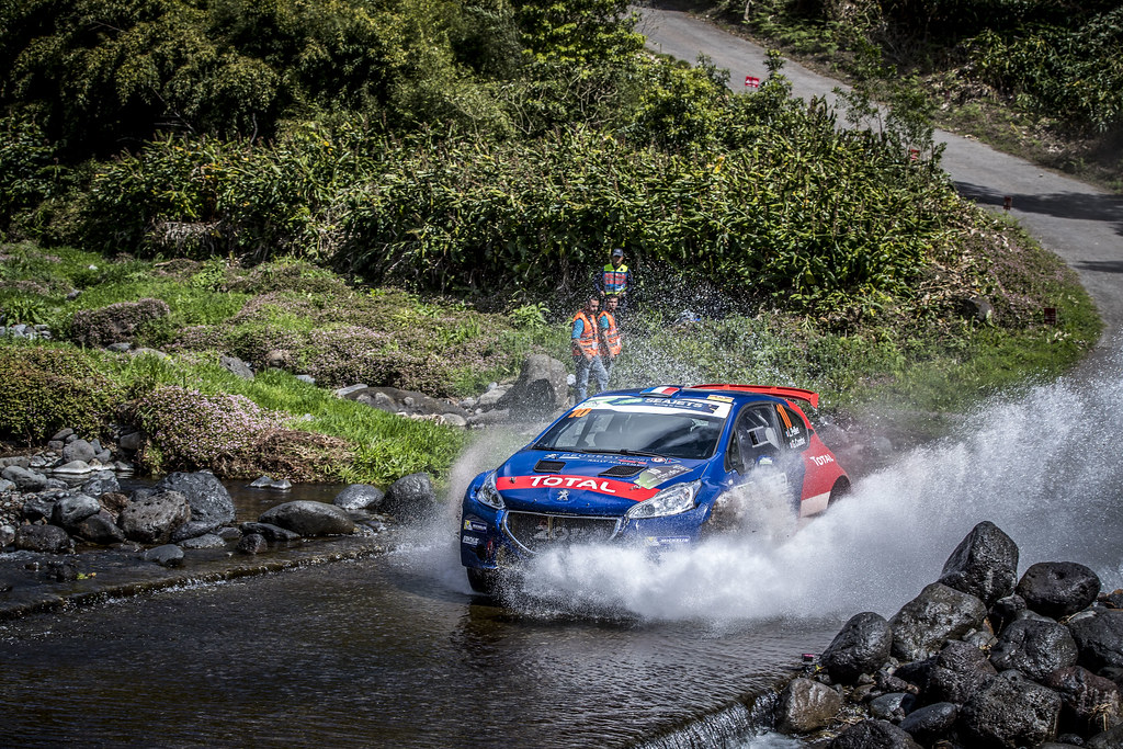 10 PELLIER Laurent (fra), COMBE Geoffrey (fra), PEUGEOT RALLY ACADEMY, PEUGEOT 208 T16, action during the 2018 European Rally Championship ERC Azores rally,  from March 22 to 24, at Ponta Delgada Portugal - Photo Gregory Lenormand / DPPI