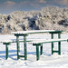 Snowy Picnic Table