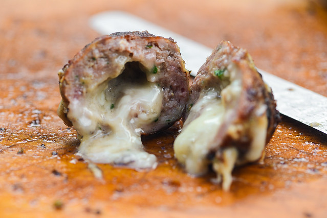 Cheese-stuffed Italian Meatballs
