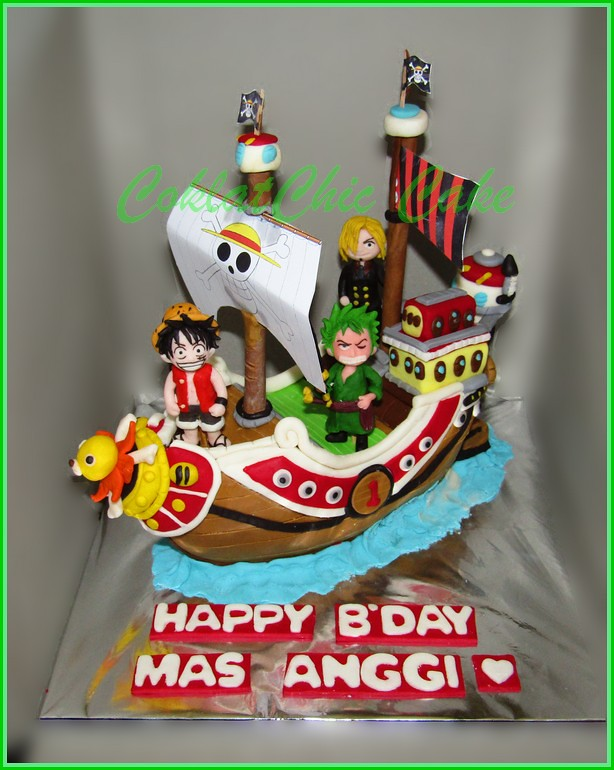 Cake One Piece Ship Thousand Sunny MAS ANGGI 15 cm