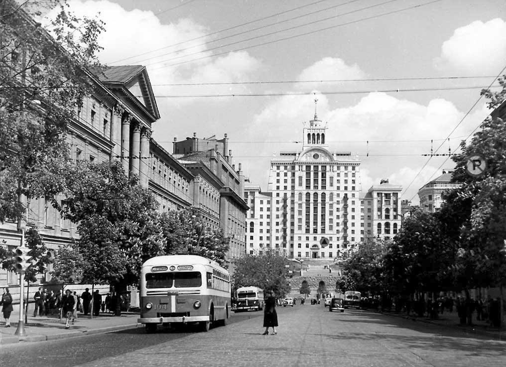 Панорама улицы Ленина (Богдана Хмельницкого), 1955 год