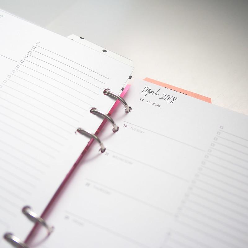 Filofax A5 custom planner