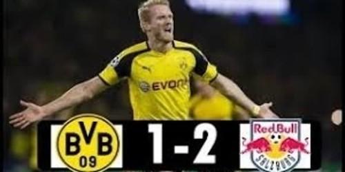 Cuplikan Gol – Borussia Dortmund 1-2 Salzburg – 08 Maret 2018 – Liga Eropa
