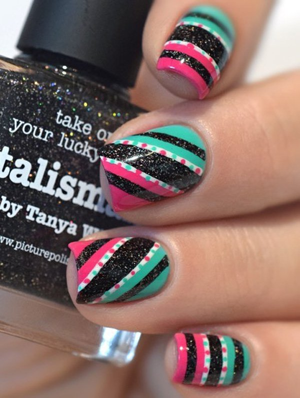 Multicolored Nail Art Designs