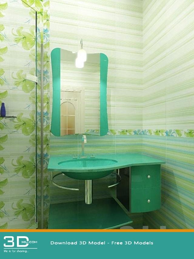 "Pom'dor sink dornbracht faucet"" sanitary ware collection 3d."