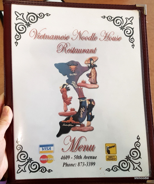 Vietnamese Noodle House menu cover
