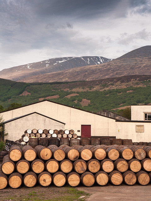 Ben Nevis whisky distillery in Scotland