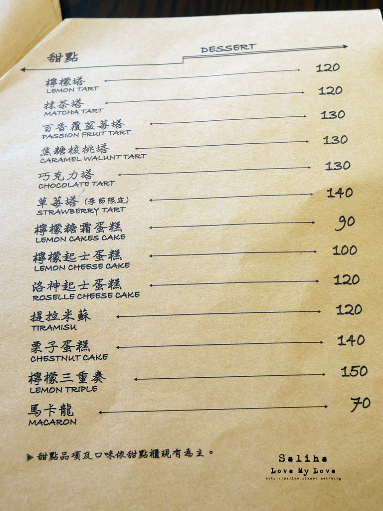 新竹竹北三角咖啡館菜單價位menu (1)