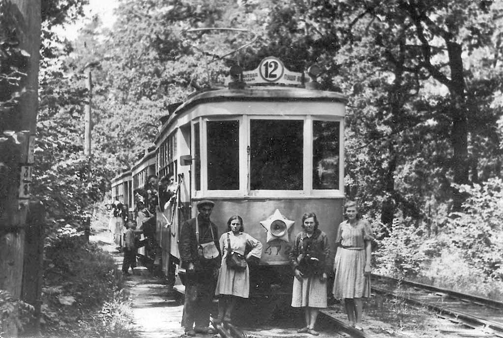 Трамвай в Пуще-Водице, 1949 год
