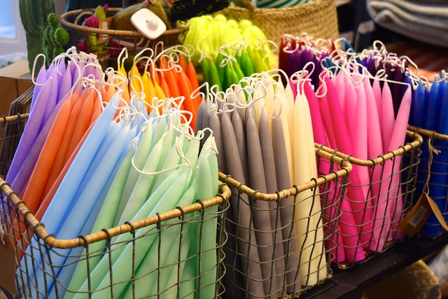 Coloured Candles at Wrapped!, Canterbury #candles #home #canterbury