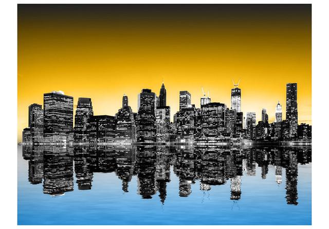 Papier peint Sunny glow over New York