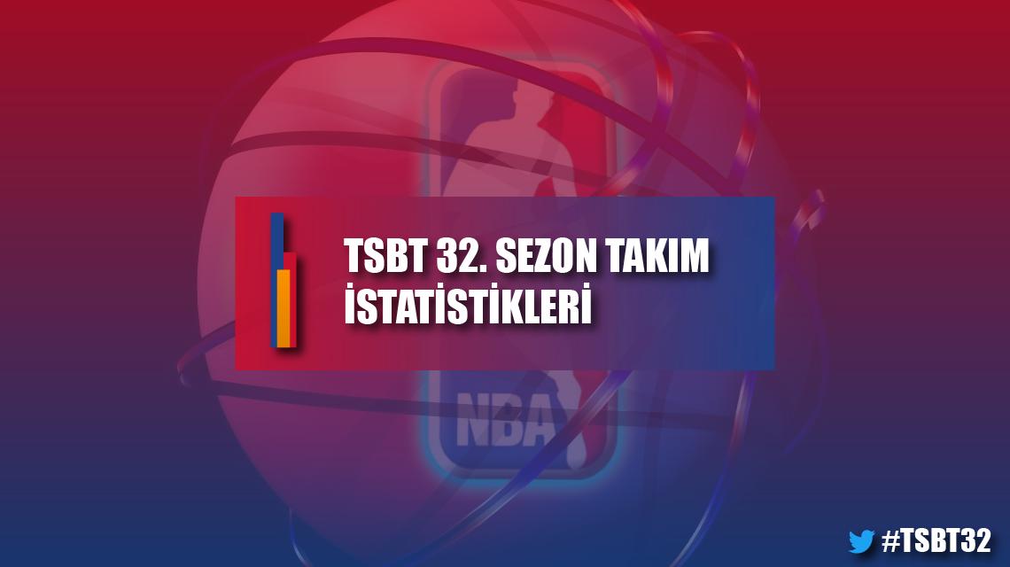TSBT 32. sezon takım istatistikleri