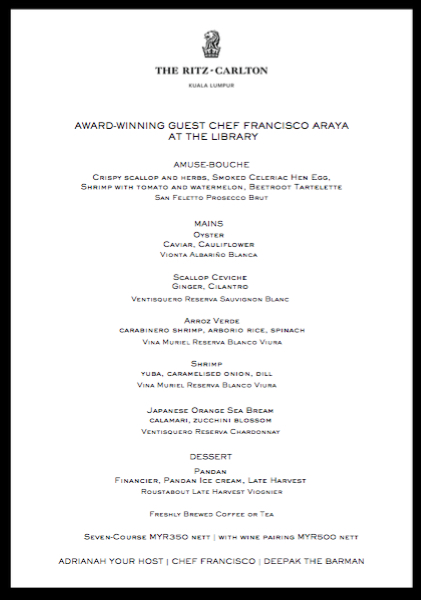 fancisco menu