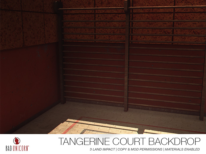 NEW! Tangerine Court Backdrop - TeleportHub.com Live!