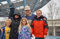 With The Grandparents By The Unisphere