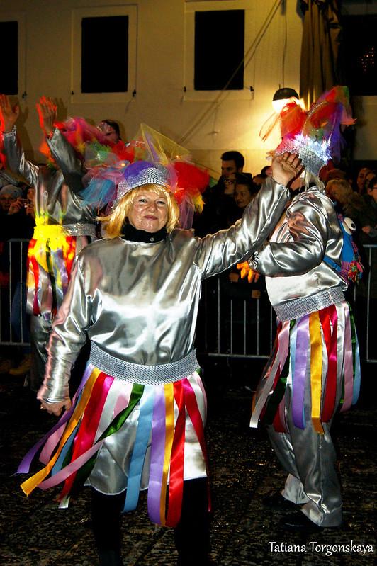 Карнавальная группа из Риеки на Закрытии 49 Праздника мимозы