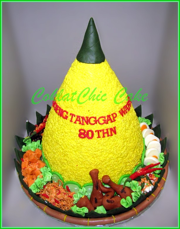 Cake Tumpeng Nasi Kuning 30 cm
